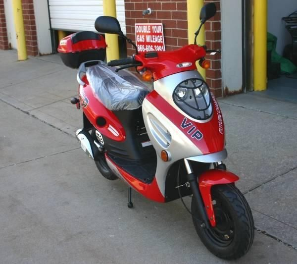 Brand New Red 50cc 4 Stroke Gas Moped Scooter