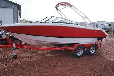 2014 Four Winns H200 Fiberglass Boat Red Wakeboard Tower Trailer LX Package NEW