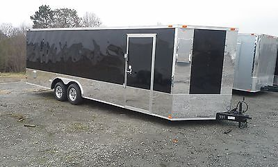 New 2016 Enclosed Cargo Trailer Car Hauler 8.5X24 Deluxe Exterior Package