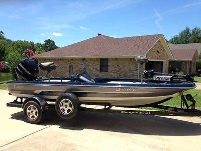 Ranger Bass Boat,  115 HP Mercury Outboard MinnKota Fortrex Trolling Motor