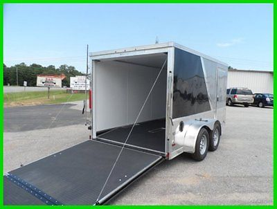look 7x12 finished interior enclosed cargo motorcycle toy hauler trailer New