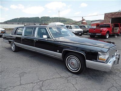 Cadillac : Fleetwood Federal Limo 6-door Sedan 1992 cadillac fleetwood brougham 5.7 l 350 v 8 limo very low miles clean serviced