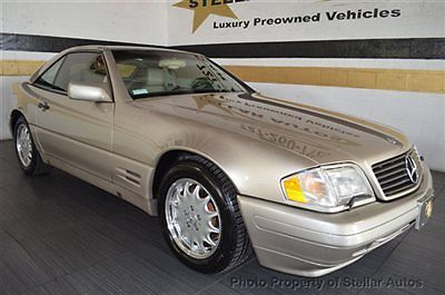 Mercedes-Benz : SL-Class SL Class 2dr Roadster 3.2L SL320 ROADSTER CLEAN CARFAX LOW MILES ONLY 77K  FLORIDA CAR  BOTH TOPS  WARRANTY