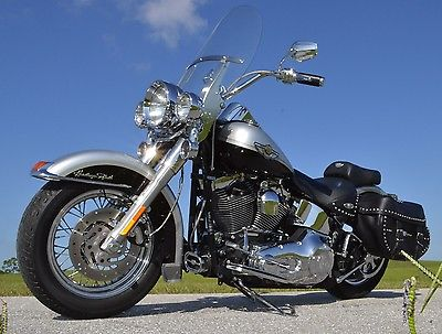 Harley-Davidson : Softail 5 000 in extras 2003 harley 100 th anniversary heritage softail excellent cond
