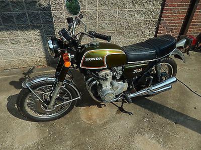 Honda : CB 1973 original paint pipes honda cb 350 f cb 350 four project cafe racer 4 cylinder
