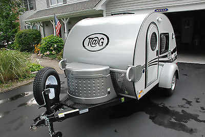 2015 Little Guy TAG Teardrop Camper - A/C - Factory Entertainment Center - Solar