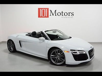 Audi : R8 5.2 quattro Spyder R8 V10 Suzuka Grey pearl, 7300 miles, 1-Owner! $187K Sticker!  Convertible