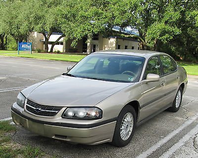 Chevrolet : Impala Sedan Gold 2001 Chevy Impala Sedan 3.8L V6 Good Condition!