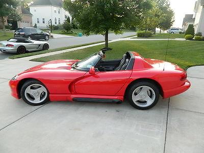 Dodge : Viper RT 10 Convertible Viper 1993 dodge viper rt 10 convertible only 5 300 orig miles new tires 6 spd