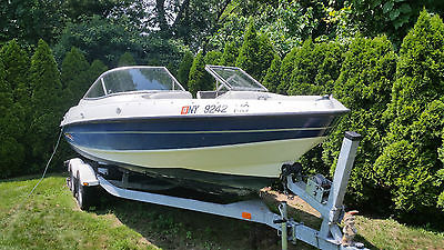 2005 Bayliner 225 BR Runabout with 220 hp V8 5.0L Mercruiser I/O and Trailer