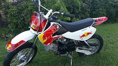 Kawasaki : KLX 2008 kawasaki klx 110 dirt bike like new extremely low miles red bull