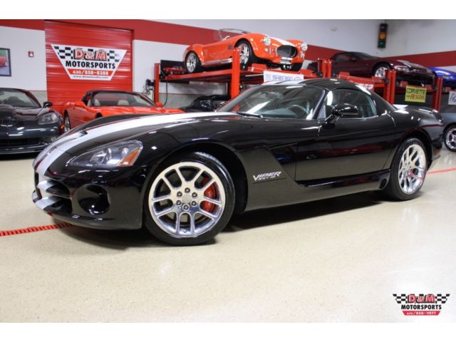 Dodge : Viper SRT-10 Coupe 06 viper srt 10 coupe 7 089 miles black with dual silver stripes polished wheels