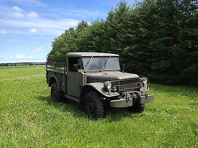 Dodge : Other Pickups 3/4 ton Military cargo pick-up DODGE MILITARY M37 CARGO PICK-UP TRUCK RUST-FREE SURVIVOR