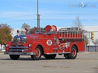 Other Makes : Firetruck 1951 seagrave firetruck pristine parade use