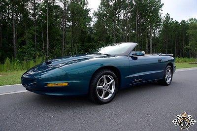 Pontiac : Firebird SLP FIREHAWK CONVERTIBLE SUPER RARE PRISTINE 1 of 2 95 6 speed firehawk 1 of 2 blue green chameleon convertibles mint