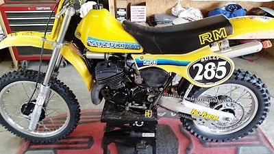 Suzuki : RM 1981 suzuki rm 250 collector ahrma mx racing full floater rpm racing team