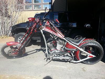 Custom Built Motorcycles : Chopper Stones Chopper, Stingray Seat, 300 Tire, 140 ci El Bruto motor, 75k+ in 2005