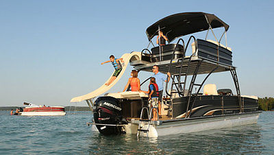 2013 Premier Tri Pontoon Boat with Water Slide and New Trailer