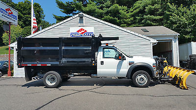 Ford : Other Pickups Fisher 10' MC Snow Plow Landscaper SL Dump Truck 2010 ford f 550 super duty 4 x 4 dump truck 6.4 powerstroke turbo diesel snow plow