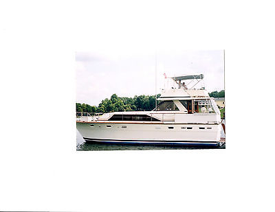 CLASSIC 44 FT. TROJAN FLYBRIDGE MOTORYACHT KEPT IN FRESH WATER UNDER COVER