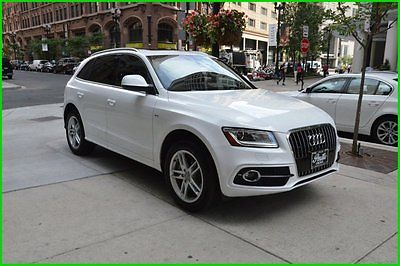 Audi : Q5 white/tan 2-owner , loaded,clean, rudy@7734073227 2014 3.0 t premium plus used 3 l v 6 24 v automatic awd suv premium plus