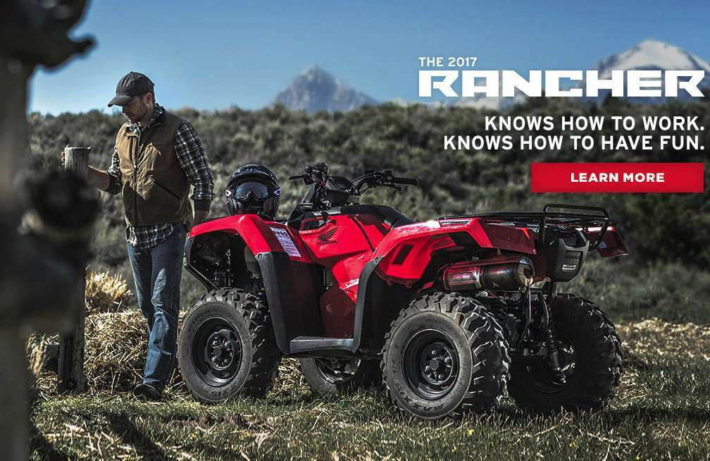 2017 Honda FourTrax Rancher 4x4 DCT EPS Red (TRX420FA2F)