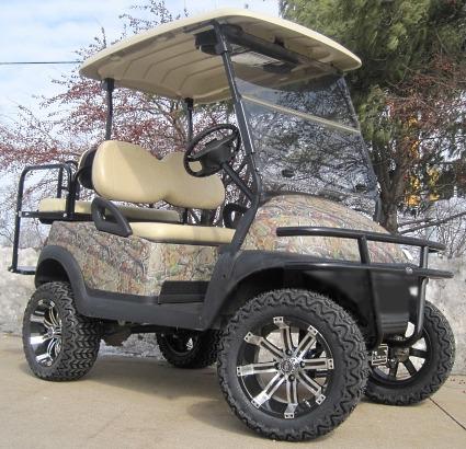 2012 Club Car 48V Real Tree Texture Leaf Precedent Lifted Golf Cart