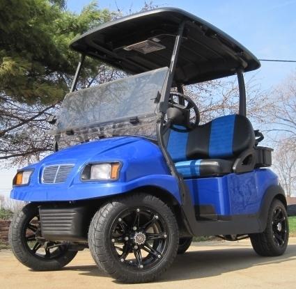 2012 Club Car 48V Blue Phantom Precedent Electric Golf Cart For Sale