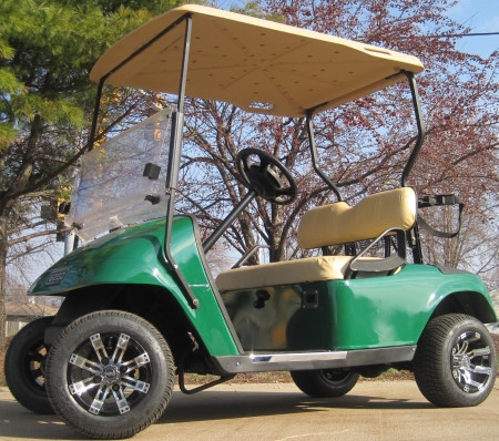 2012 Ez-Go 36v Electric Green Golf Cart w/ Custom Rims & Tires