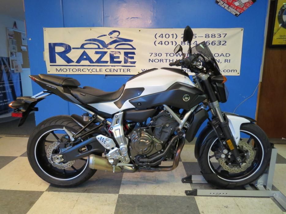 yamaha fz07 motorcycles for sale in north kingstown rhode island. Black Bedroom Furniture Sets. Home Design Ideas