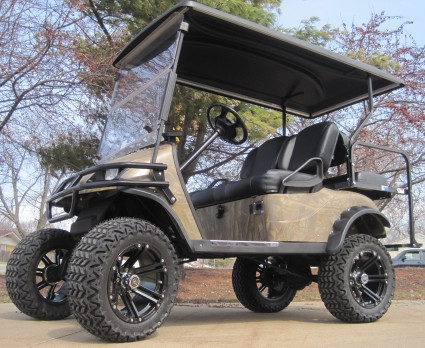 2012 E-Z-Go Lifted Forest Camo 36 Volt Electric Golf Cart