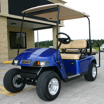 2012 Ez-Go Pds 36v Blue Electric Golf Cart w/ Speed Chip