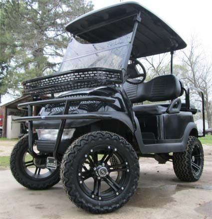 2012 Club Car 48V Black Precedent Lifted Golf Cart