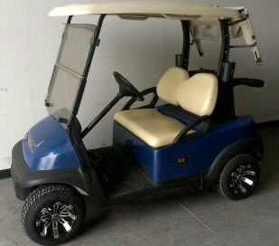 2012 Club Car 48v Electric Precedent Golf Cart Custom Rims & Tires