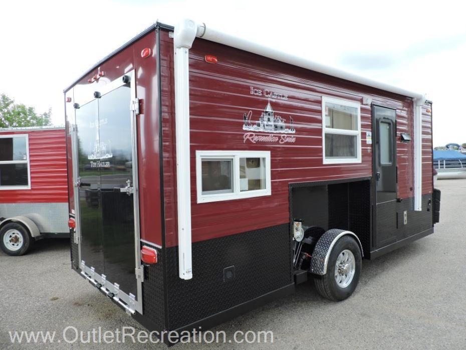 Ice castle 8x17 recreation series rvs for sale in minnesota for Toy hauler fish house