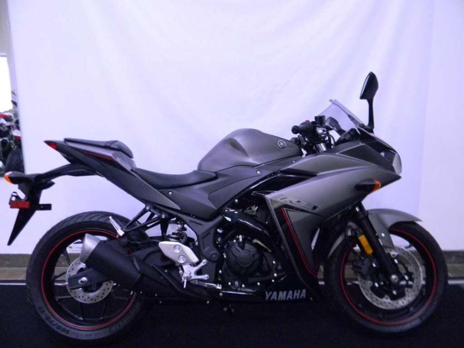 yamaha yzf r3 matte gray motorcycles for sale in texas. Black Bedroom Furniture Sets. Home Design Ideas