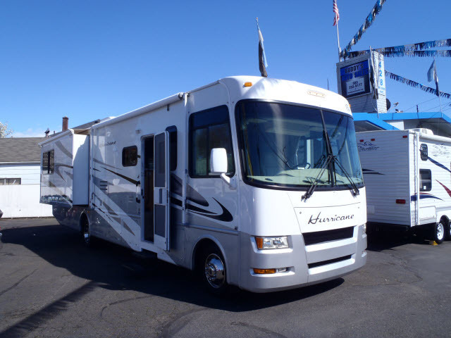 Thor motor coach hurricane with 2 slides rvs for sale for Motor coaches with 2 bedrooms