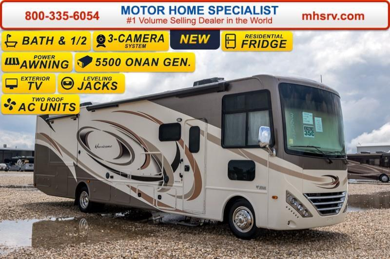 2017 Thor Motor Coach Hurricane 35C Bath & 1/2, Jacks, Ext TV,