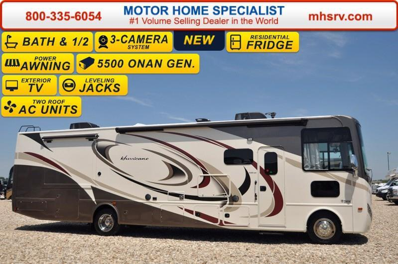 2017 Thor Motor Coach Hurricane 35C Bath & 1/2, Ext TV, Theate