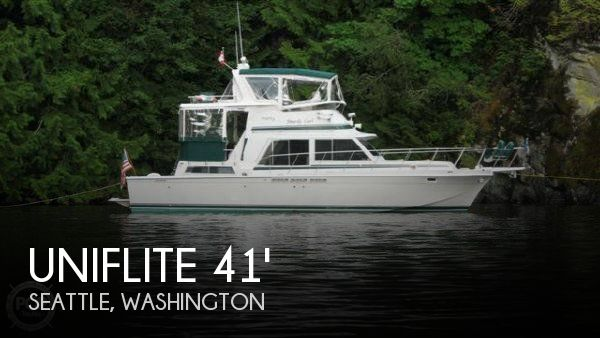 1983 Uniflite 41 Yacht Fisherman