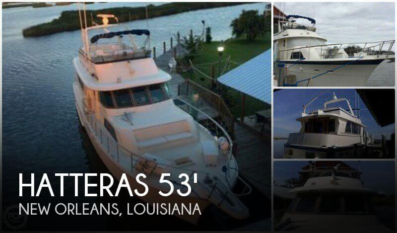 1984 Hatteras 53 Motor Yacht Extended Deck