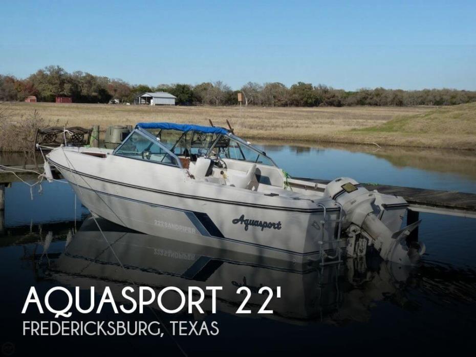 1986 Aquasport 222 Sandpiper