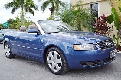 Audi : A4 1.8T Convertible 2004 audi a 4 1.8 t cabriolet convertible heated leather 35 k miles