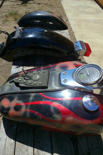 Honda Motorcycle Gas Tank & Fenders
