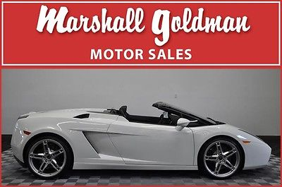 Lamborghini : Gallardo Spyder Convertible 2-Door 2008 lamborghini gallardo spyder 5800 miles in bianco e gear transmission nav