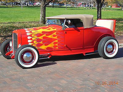 Ford : Model A Roadster 1930 ford model a steel roadster red with removable convertible tops windows