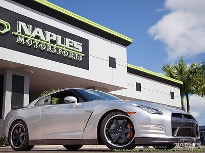 Nissan : GT-R Black Edition 2014 nissan gt r black edition super silver black red leather 1 owner
