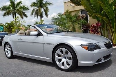 BMW : 6-Series Convertible 2005 bmw 645 ci 29 k miles florida convertible active steering 19 inch wheels