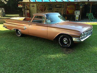 Chevrolet : El Camino EL CAMINO 1960 el camino must see hot patina rod not rat rare factory color