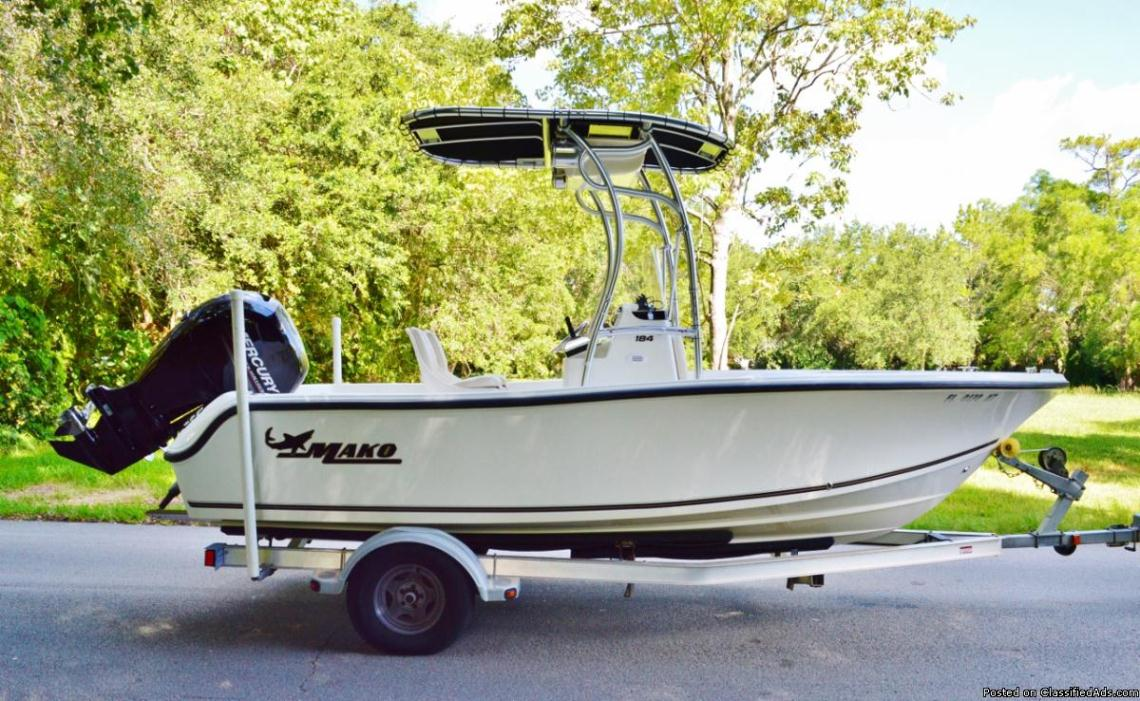 MAKO 184 MERCURY 150 (Warranty To 2017) EZ LOADER TRAILER + EXTRAS ***MUST...